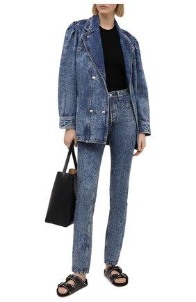 Женские джинсы ISABEL MARANT ETOILE синего цвета, арт. PA1857-21P019E/BILIANASR | Фото 2