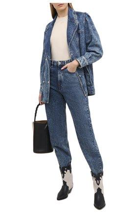 Женские джинсы ISABEL MARANT ETOILE синего цвета, арт. PA1851-21P019E/C0RSYSR | Фото 2