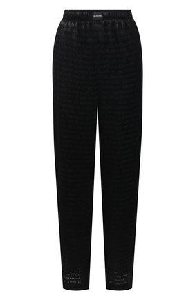 Женские брюки из вискозы и шелка BALENCIAGA черного цвета, арт. 595222/TJ084 | Фото 1