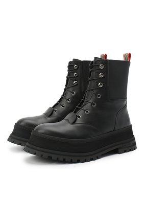 Женские кожаные ботинки springton BURBERRY черного цвета, арт. 8034295 | Фото 1