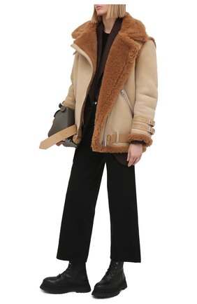 Женские кожаные ботинки springton BURBERRY черного цвета, арт. 8034295   Фото 2