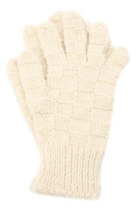 Женские шерстяные перчатки BOTTEGA VENETA белого цвета, арт. 653581/3V200 | Фото 1 (Материал: Шерсть; Кросс-КТ: Трикотаж)