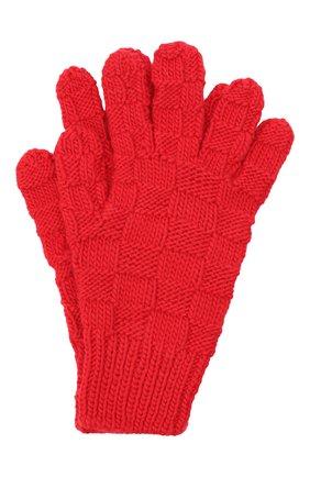 Женские шерстяные перчатки BOTTEGA VENETA красного цвета, арт. 653581/3V200 | Фото 1 (Материал: Шерсть; Кросс-КТ: Трикотаж)