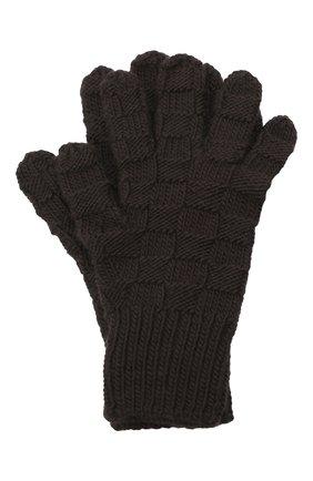 Женские шерстяные перчатки BOTTEGA VENETA темно-коричневого цвета, арт. 653581/3V200 | Фото 1 (Кросс-КТ: Трикотаж; Материал: Шерсть)