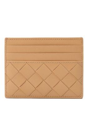 Женский кожаный футляр для кредитных карт BOTTEGA VENETA бежевого цвета, арт. 635042/VCPP3   Фото 1