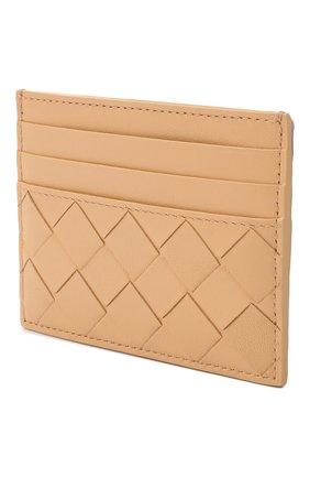 Женский кожаный футляр для кредитных карт BOTTEGA VENETA бежевого цвета, арт. 635042/VCPP3   Фото 2