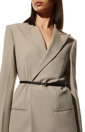 Женский кожаный ремень BOTTEGA VENETA черного цвета, арт. 619759/VMAU1 | Фото 2 (Материал: Кожа)