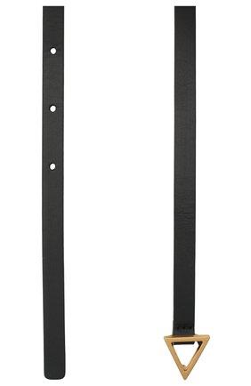 Женский кожаный ремень BOTTEGA VENETA темно-коричневого цвета, арт. 619759/VMAU1 | Фото 2 (Материал: Кожа)