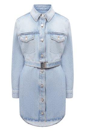 Женское джинсовое платье OFF-WHITE голубого цвета, арт. 0WYM007R21DEN001 | Фото 1
