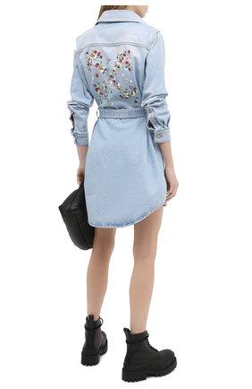 Женское джинсовое платье OFF-WHITE голубого цвета, арт. 0WYM007R21DEN001 | Фото 2