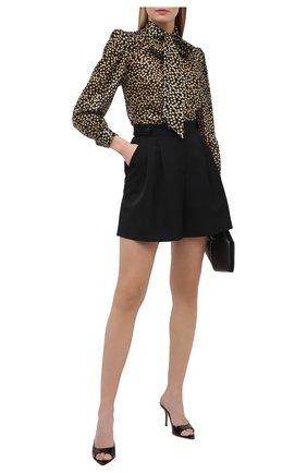 Женские кожаные мюли GIA COUTURE черного цвета, арт. PERNI-04 B 201 | Фото 2