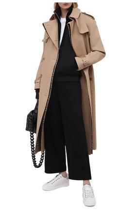 Женские кожаные кеды portofino DOLCE & GABBANA серебряного цвета, арт. CK1602/AN298 | Фото 2