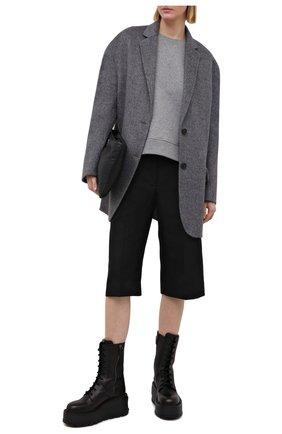 Женский хлопковый свитшот REDVALENTINO серого цвета, арт. VR3MF06B/5PG | Фото 2