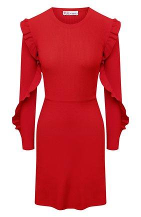 Женское платье REDVALENTINO красного цвета, арт. VR3KD02B/5P4 | Фото 1