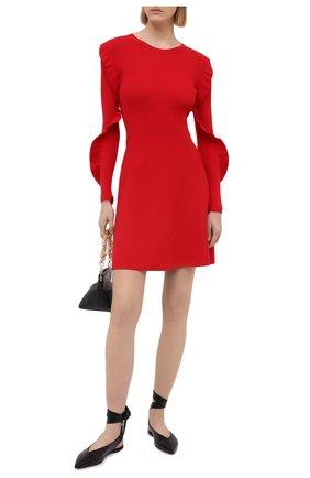Женское платье REDVALENTINO красного цвета, арт. VR3KD02B/5P4 | Фото 2