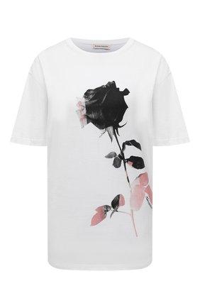 Женская хлопковая футболка ALEXANDER MCQUEEN белого цвета, арт. 653557/QZACS | Фото 1