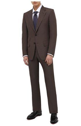 Мужская хлопковая сорочка BRIONI белого цвета, арт. RCL412/P7003 | Фото 2 (Материал внешний: Хлопок; Случай: Формальный; Воротник: Кент; Стили: Классический; Рукава: Длинные; Рубашки М: Regular Fit; Длина (для топов): Стандартные)