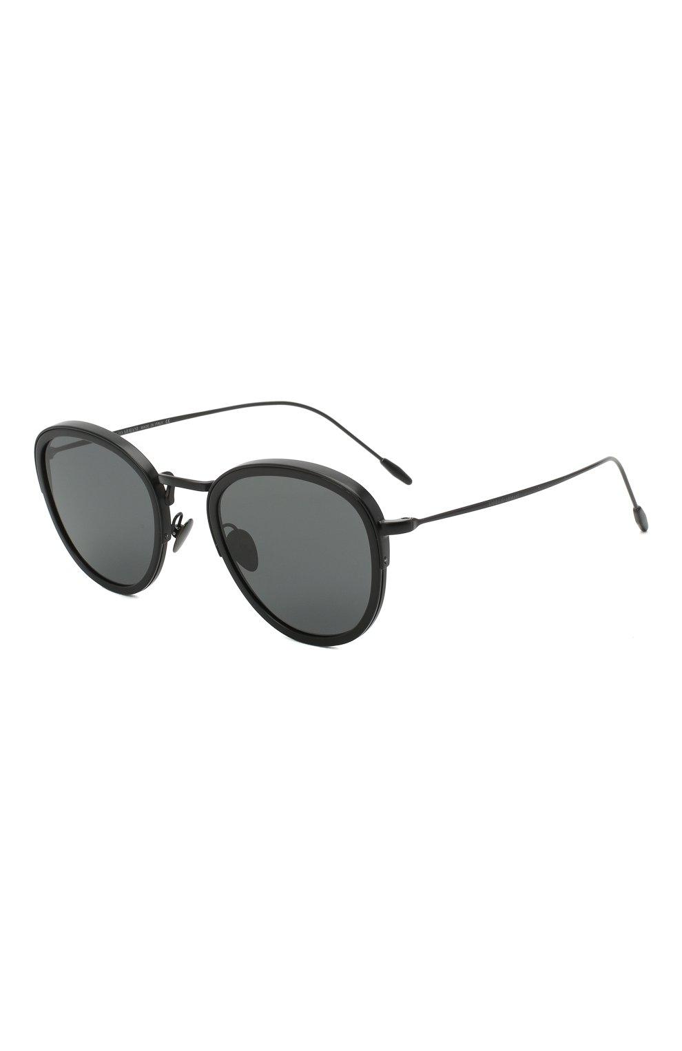 Мужские солнцезащитные очки GIORGIO ARMANI черного цвета, арт. AR6068 | Фото 1