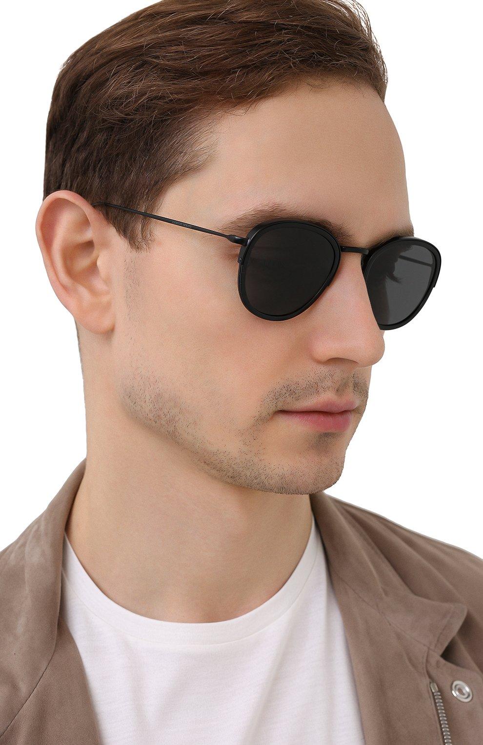 Мужские солнцезащитные очки GIORGIO ARMANI черного цвета, арт. AR6068 | Фото 2