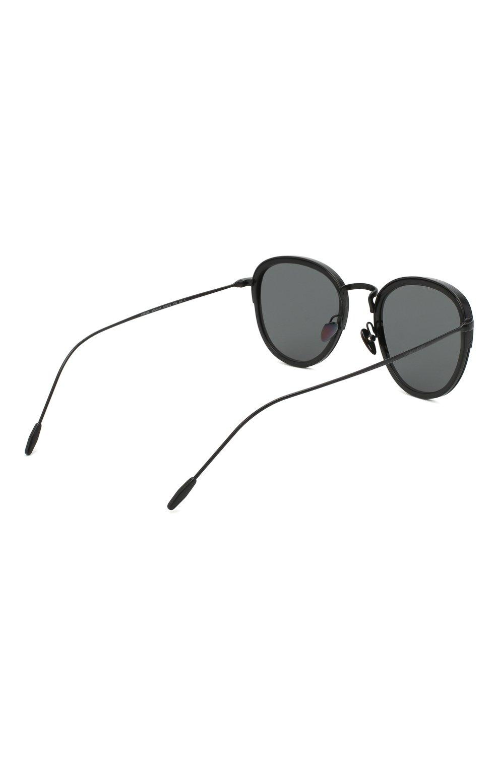 Мужские солнцезащитные очки GIORGIO ARMANI черного цвета, арт. AR6068 | Фото 4