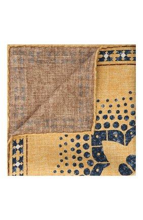 Мужской шелковый платок BRUNELLO CUCINELLI желтого цвета, арт. MQ8480091 | Фото 1 (Материал: Текстиль, Шелк)