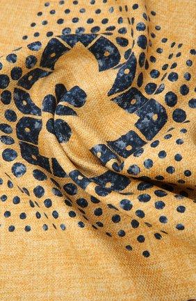 Мужской шелковый платок BRUNELLO CUCINELLI желтого цвета, арт. MQ8480091 | Фото 2 (Материал: Текстиль, Шелк)