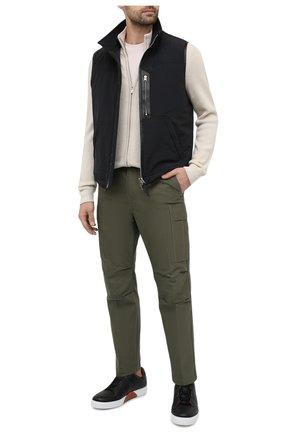 Мужские хлопковые брюки-карго TOM FORD хаки цвета, арт. BW141/TFP223 | Фото 2