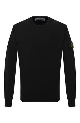 Мужской хлопковый свитшот STONE ISLAND черного цвета, арт. 741563051 | Фото 1