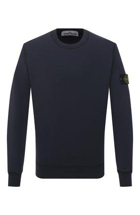 Мужской хлопковый свитшот STONE ISLAND темно-синего цвета, арт. 741563051 | Фото 1