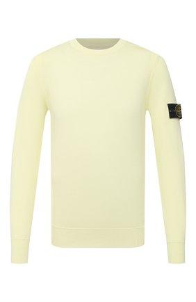 Мужской хлопковый джемпер STONE ISLAND желтого цвета, арт. 7415504B2   Фото 1
