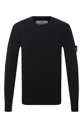 Мужской хлопковый джемпер STONE ISLAND черного цвета, арт. 7415504B2 | Фото 1