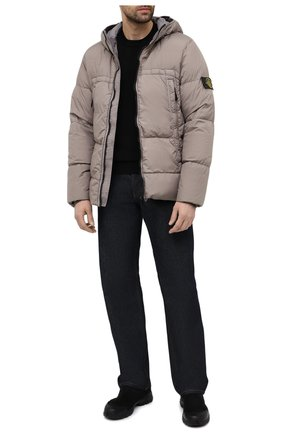 Мужской хлопковый джемпер STONE ISLAND черного цвета, арт. 7415504B2 | Фото 2