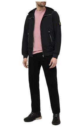 Мужская хлопковая футболка STONE ISLAND розового цвета, арт. 741524113 | Фото 2