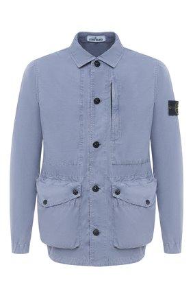 Мужская хлопковая куртка STONE ISLAND синего цвета, арт. 7415439WN | Фото 1