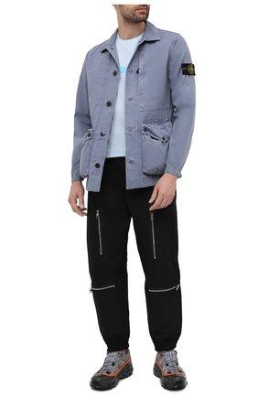Мужская хлопковая куртка STONE ISLAND синего цвета, арт. 7415439WN | Фото 2