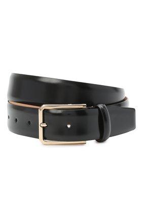 Мужской кожаный ремень SANTONI черного цвета, арт. CM35NS003B91H0BRN01 | Фото 1
