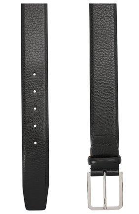 Мужской кожаный ремень SANTONI черного цвета, арт. CM40NS003C07EUPDN01 | Фото 2
