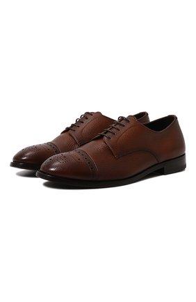 Мужские кожаные дерби H`D`S`N BARACCO коричневого цвета, арт. 71201.C.4* | Фото 1