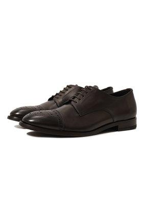 Мужские кожаные дерби H`D`S`N BARACCO темно-коричневого цвета, арт. 71201.P.0* | Фото 1