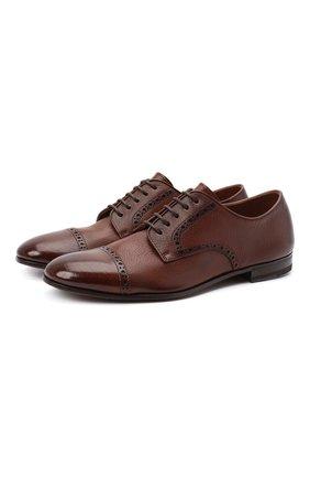 Мужские кожаные дерби H`D`S`N BARACCO коричневого цвета, арт. 71203.C.0* | Фото 1