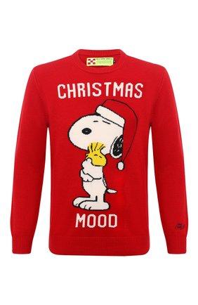 Мужской свитер MC2 SAINT BARTH красного цвета, арт. STBM HER0N/HER0001/XMSN41 | Фото 1
