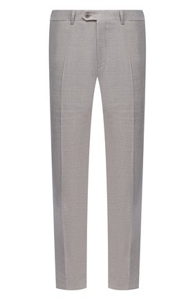 Мужские брюки из шерсти и льна BRIONI бежевого цвета, арт. RPL80N/P9AB9/MEGEVE | Фото 1 (Длина (брюки, джинсы): Стандартные; Материал внешний: Шерсть; Стили: Классический; Случай: Формальный; Материал подклада: Купро)