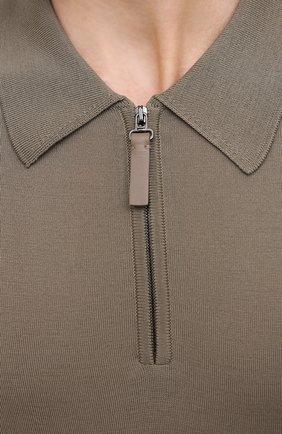 Мужское шерстяное поло BRIONI хаки цвета, арт. UMS10L/0ZK28   Фото 5
