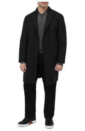 Мужское шерстяное поло BRIONI темно-серого цвета, арт. UMS10L/0ZK28 | Фото 2