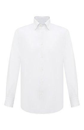 Мужская льняная рубашка BRIONI белого цвета, арт. SCAY0L/P9111 | Фото 1