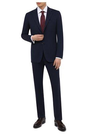 Мужская хлопковая сорочка BRIONI белого цвета, арт. RCA30L/PZ016 | Фото 2 (Стили: Классический; Рукава: Длинные; Воротник: Кент; Длина (для топов): Стандартные; Рубашки М: Regular Fit; Материал внешний: Хлопок; Случай: Формальный)