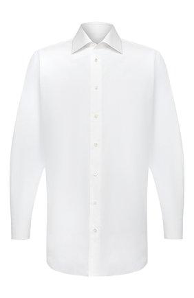 Мужская хлопковая сорочка BRIONI белого цвета, арт. RCA30L/PZ005 | Фото 1 (Воротник: Кент; Длина (для топов): Стандартные; Материал внешний: Хлопок; Рукава: Длинные; Рубашки М: Regular Fit; Стили: Классический; Случай: Формальный)