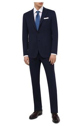 Мужская хлопковая сорочка BRIONI белого цвета, арт. RCA30L/PZ005 | Фото 2 (Воротник: Кент; Длина (для топов): Стандартные; Материал внешний: Хлопок; Рукава: Длинные; Рубашки М: Regular Fit; Стили: Классический; Случай: Формальный)