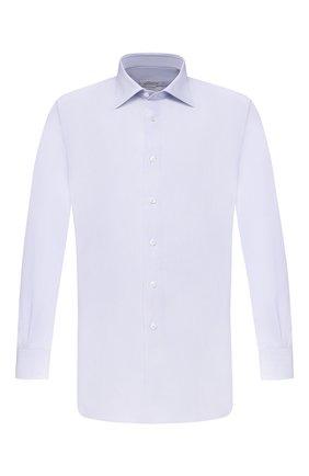 Мужская хлопковая сорочка BRIONI голубого цвета, арт. RCA20L/P90B7 | Фото 1