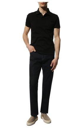 Мужское хлопковое поло SAINT LAURENT черного цвета, арт. 554052/YB20C | Фото 2